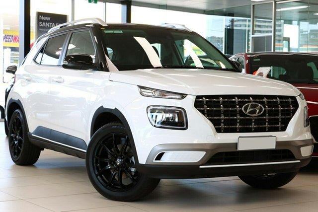 New Hyundai Venue QX.V3 MY21 Elite Ferntree Gully, 2021 Hyundai Venue QX.V3 MY21 Elite Polar White 6 Speed Automatic Wagon