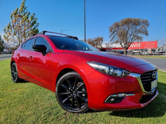 Used Mazda 3 BN5438 SP25 SKYACTIV-Drive Hindmarsh, 2018 Mazda 3 BN5438 SP25 SKYACTIV-Drive Soul Red Crystal 6 Speed Sports Automatic Hatchback