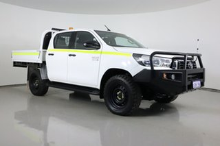 2019 Toyota Hilux GUN126R MY19 SR (4x4) White 6 Speed Automatic Double Cab Chassis.