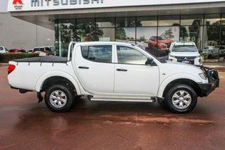 2013 Mitsubishi Triton MN MY13 GLX Double Cab White 5 Speed Manual Utility.