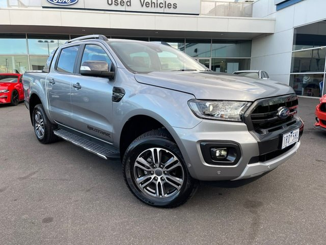 Used Ford Ranger PX MkIII 2020.25MY Wildtrak Essendon Fields, 2019 Ford Ranger PX MkIII 2020.25MY Wildtrak Silver 10 Speed Sports Automatic Double Cab Pick Up