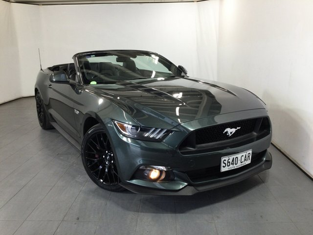 Used Ford Mustang FM GT SelectShift Elizabeth, 2015 Ford Mustang FM GT SelectShift Green 6 Speed Sports Automatic Convertible