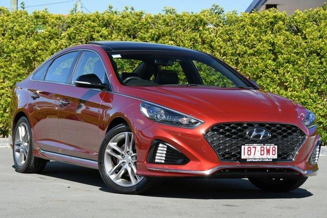 Used Hyundai Sonata LF4 MY18 Premium Aspley, 2017 Hyundai Sonata LF4 MY18 Premium Red 8 Speed Sports Automatic Sedan