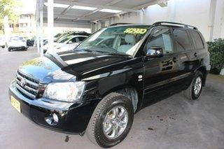 2005 Toyota Kluger MCU28R CVX AWD Black 5 Speed Automatic Wagon