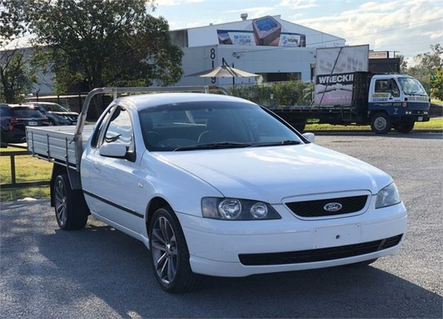 Used Ford Falcon BA XLS Archerfield, 2003 Ford Falcon BA XLS White 4 Speed Sports Automatic Cab Chassis
