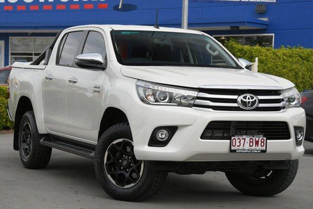 Used Toyota Hilux GUN126R SR5 Double Cab Aspley, 2018 Toyota Hilux GUN126R SR5 Double Cab White 6 Speed Sports Automatic Utility