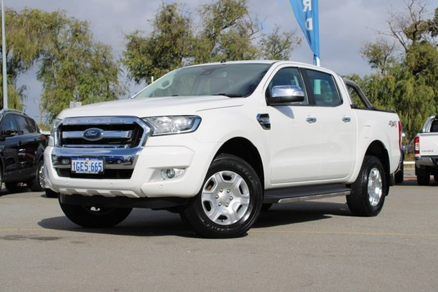 Used Ford Ranger PX MkII XLT Double Cab Midland, 2016 Ford Ranger PX MkII XLT Double Cab White 6 Speed Sports Automatic Utility