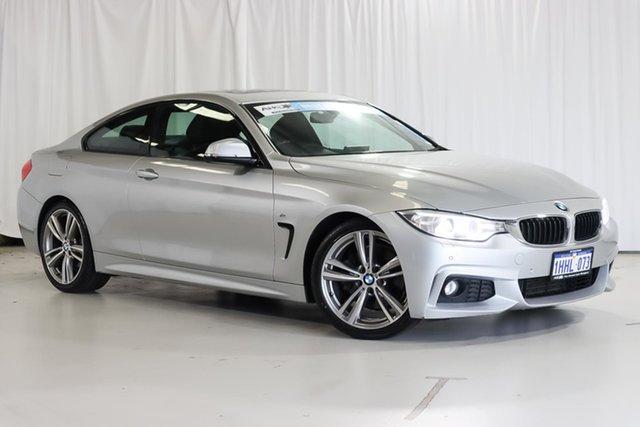 Used BMW 4 Series F32 428i M Sport Wangara, 2013 BMW 4 Series F32 428i M Sport Silver 8 Speed Sports Automatic Coupe