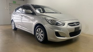2016 Hyundai Accent RB3 MY16 Active Silver 6 Speed CVT Auto Sequential Hatchback.