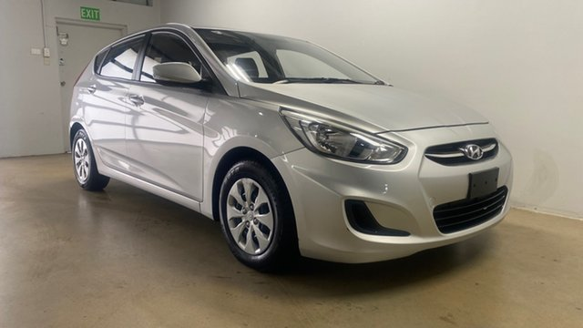 Used Hyundai Accent RB3 MY16 Active Phillip, 2016 Hyundai Accent RB3 MY16 Active Silver 6 Speed CVT Auto Sequential Hatchback