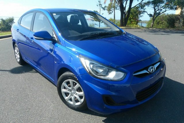 Used Hyundai Accent RB Active Gladstone, 2012 Hyundai Accent RB Active Blue 5 Speed Manual Sedan
