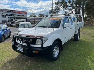 2012 Nissan Navara D40 S6 MY12 RX King Cab White 5 Speed Automatic Cab Chassis.
