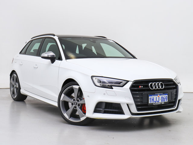 Used Audi S3 8V MY18 S/Back 2.0 TFSI Quattro Blk Ed, 2019 Audi S3 8V MY18 S/Back 2.0 TFSI Quattro Blk Ed White 7 Speed Auto S-Tronic Hatchback