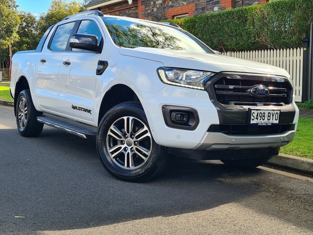 Used Ford Ranger PX MkII 2018.00MY Wildtrak Double Cab Hyde Park, 2018 Ford Ranger PX MkII 2018.00MY Wildtrak Double Cab White 6 Speed Sports Automatic Utility