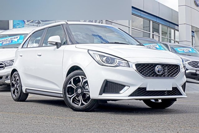 New MG MG3 SZP1 MY21 Excite Springwood, 2021 MG MG3 SZP1 MY21 Excite White 4 Speed Automatic Hatchback