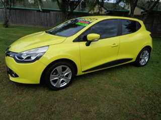 2014 Renault Clio IV B98 Expression EDC Yellow 6 Speed Sports Automatic Dual Clutch Hatchback