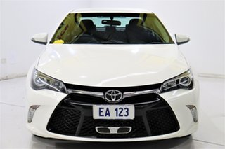 2015 Toyota Camry ASV50R Atara S White 6 Speed Sports Automatic Sedan.