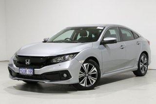 2019 Honda Civic MY19 VTi-L Silver Continuous Variable Sedan.