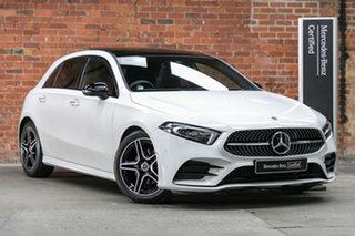 2020 Mercedes-Benz A-Class W177 800+050MY A180 DCT Polar White 7 Speed Sports Automatic Dual Clutch.