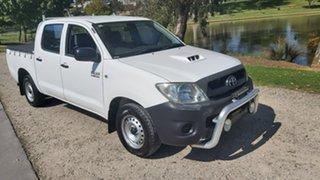 2009 Toyota Hilux KUN16R MY09 SR 4x2 White 5 Speed Manual Utility.