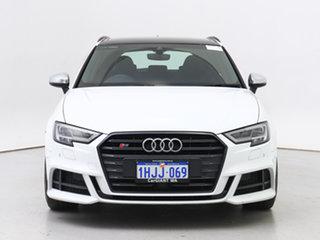 2019 Audi S3 8V MY18 S/Back 2.0 TFSI Quattro Blk Ed White 7 Speed Auto S-Tronic Hatchback.