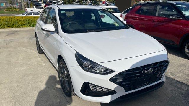New Hyundai i30 PD.V4 MY21 Active Moorooka, 2021 Hyundai i30 PD.V4 MY21 Active Polar White 6 Speed Sports Automatic Hatchback