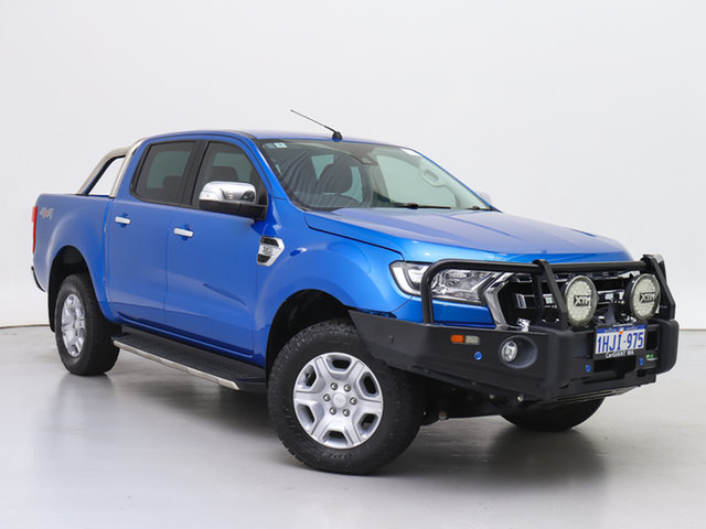 Used Ford Ranger PX MkII MY18 XLT 3.2 (4x4), 2017 Ford Ranger PX MkII MY18 XLT 3.2 (4x4) Blue 6 Speed Automatic Double Cab Pick Up