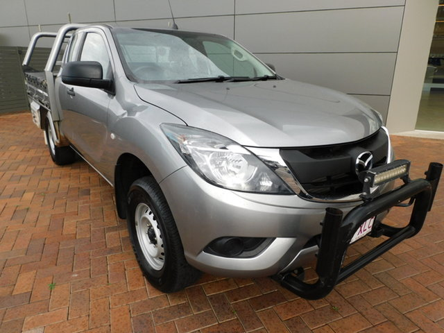 Used Mazda BT-50 UR0YG1 XT Freestyle 4x2 Hi-Rider Toowoomba, 2017 Mazda BT-50 UR0YG1 XT Freestyle 4x2 Hi-Rider Silver 6 Speed Sports Automatic Cab Chassis
