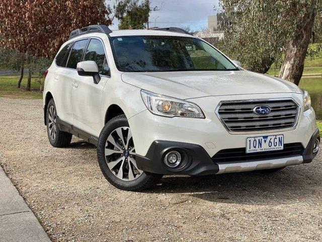 Used Subaru Outback B6A MY16 2.5i CVT AWD Wodonga, 2016 Subaru Outback B6A MY16 2.5i CVT AWD White 6 Speed Constant Variable Wagon