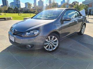 2014 Volkswagen Golf VI MY14 118TSI DSG Grey 7 Speed Sports Automatic Dual Clutch Cabriolet.