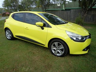 2014 Renault Clio IV B98 Expression EDC Yellow 6 Speed Sports Automatic Dual Clutch Hatchback.