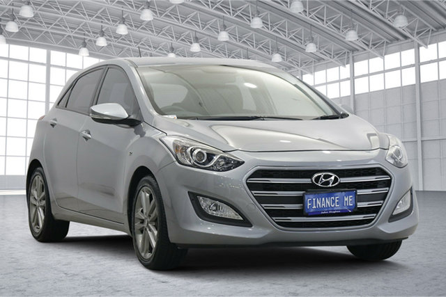 Used Hyundai i30 GD3 Series II MY16 SR Victoria Park, 2015 Hyundai i30 GD3 Series II MY16 SR Silver 6 Speed Sports Automatic Hatchback