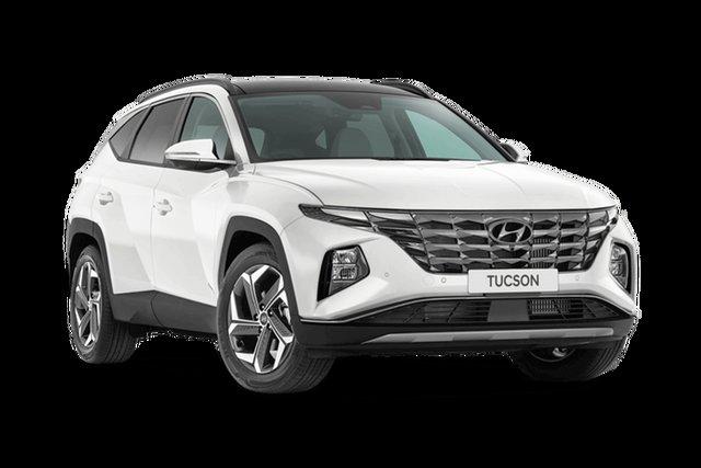 Demo Hyundai Tucson NX4.V1 MY22 Highlander D-CT AWD Cardiff, 2021 Hyundai Tucson NX4.V1 MY22 Highlander D-CT AWD White Cream 7 Speed Sports Automatic Dual Clutch