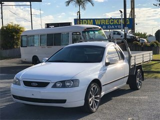 2003 Ford Falcon BA XLS White 4 Speed Sports Automatic Cab Chassis.