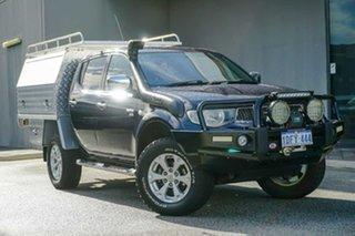 2010 Mitsubishi Triton MN MY11 GLX-R Double Cab Blue 5 Speed Sports Automatic Utility.