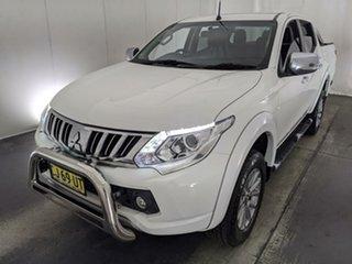 2016 Mitsubishi Triton MQ MY16 GLS Double Cab White 5 Speed Sports Automatic Utility.