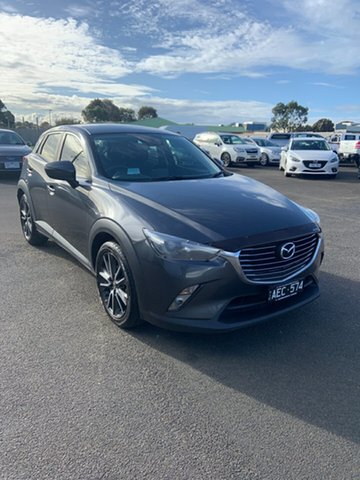 Used Mazda CX-3 DK2W7A sTouring SKYACTIV-Drive Warrnambool East, 2015 Mazda CX-3 DK2W7A sTouring SKYACTIV-Drive Meteor Gre 6 Speed Sports Automatic Wagon