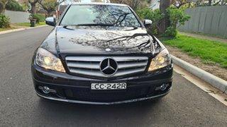 2008 Mercedes-Benz C200 W204 Kompressor Avantgarde Obsidian Black 5 Speed Auto Tipshift Sedan.