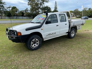 2000 Ford Courier PE GL Crew Cab White 5 Speed Manual Utility.