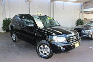2005 Toyota Kluger MCU28R CVX AWD Black 5 Speed Automatic Wagon.