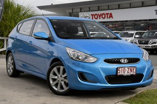 2017 Hyundai Accent RB6 MY18 Sport Blue 6 Speed Sports Automatic Hatchback.