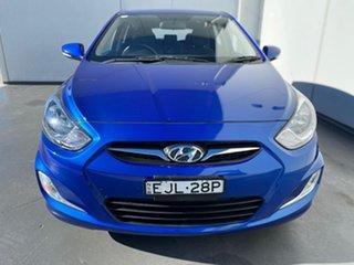 2011 Hyundai Accent RB Elite Blue 4 Speed Sports Automatic Hatchback.