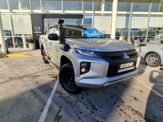 2019 Mitsubishi Triton MR MY19 GLX+ Double Cab Silver 6 Speed Sports Automatic Utility.