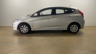 2016 Hyundai Accent RB3 MY16 Active Silver 6 Speed CVT Auto Sequential Hatchback