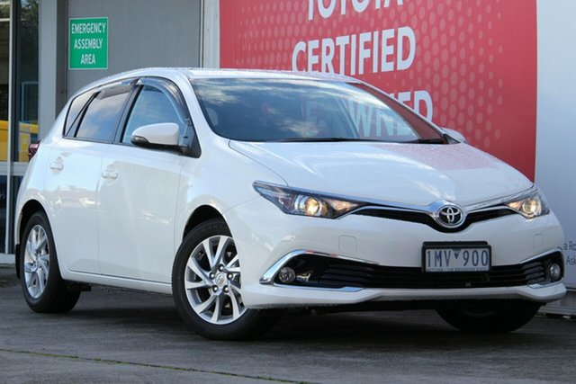 Pre-Owned Toyota Corolla ZRE182R Ascent Sport S-CVT Glen Waverley, 2018 Toyota Corolla ZRE182R Ascent Sport S-CVT Glacier White 7 Speed Constant Variable Hatchback