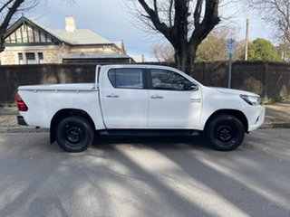 2016 Toyota Hilux GUN126R SR Double Cab White 6 Speed Sports Automatic Cab Chassis