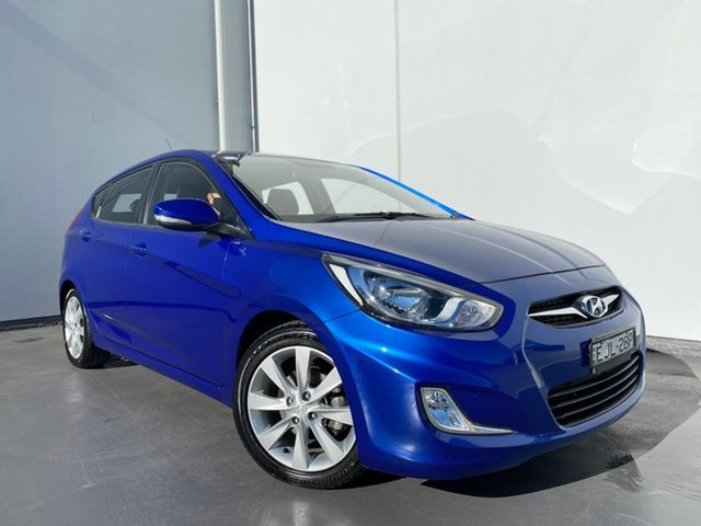 Used Hyundai Accent RB Elite Liverpool, 2011 Hyundai Accent RB Elite Blue 4 Speed Sports Automatic Hatchback