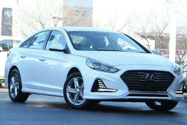 Used Hyundai Sonata LF4 MY18 Active Essendon Fields, 2018 Hyundai Sonata LF4 MY18 Active White 6 Speed Sports Automatic Sedan