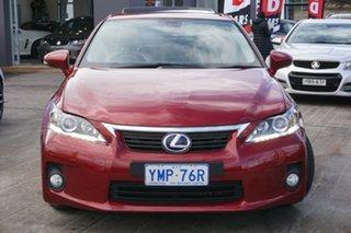 2013 Lexus CT ZWA10R MY13 CT200h Luxury Red 1 Speed Constant Variable Hatchback Hybrid.