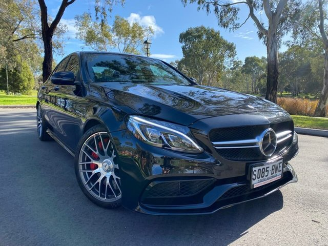 Used Mercedes-Benz C-Class W205 807+057MY C63 AMG SPEEDSHIFT MCT S Hillcrest, 2017 Mercedes-Benz C-Class W205 807+057MY C63 AMG SPEEDSHIFT MCT S Black 7 Speed Sports Automatic